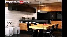 küche rustikal modern wohnideen k 252 che modern holz esstisch schwarze glas