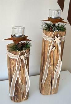 Holz Deko Selber Machen Weihnachten - 2er set altholz s 228 ulen mit und teelicht altholz