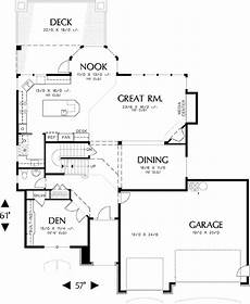daylight basement house plans compact daylight basement 69069am architectural
