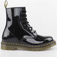 dr doc martens stiefel 8 loch boots black schwarz lack