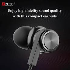 Zuzg Metal Noise Reduction Wired Earphone by Headphones Earphones Zuzg E26 Metal Noise Reduction