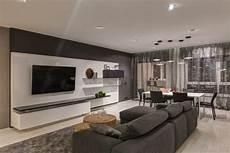 wohnung einrichten in grau modernes apartment als