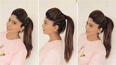 1 minute high ponytail with puff tips tricks rinkal soni youtube