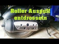 tutorial roller auspuff entdrosseln