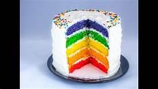 regenbogenkuchen regenbogentorte mit leichter sahnecreme