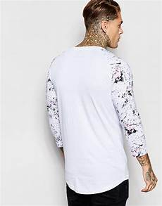 sleeve shirts for lyst for nothing 3 4 length sleeve t shirt in white