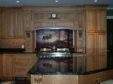 Kitchen Tile Murals Tile Backsplashes Woodland On Tile A Walk In The Mist Tile Mural