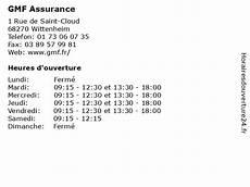 ᐅ Gmf Assurance Horaires D Ouverture 1 Rue De