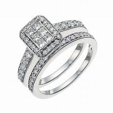 h samuel wedding and engagement ring sets 9ct white gold 1ct diamond fit bridal h samuel