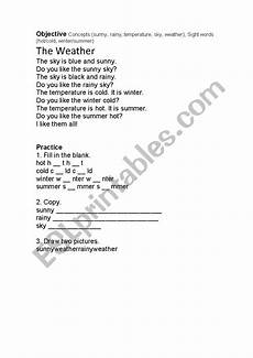 weather reading comprehension worksheets 14512 weather reading comprehension esl worksheet by lia86