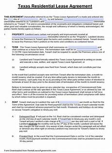 free standard residential lease agreement template