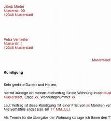 kündigungsfrist wohnung 3 monate vorlage k 252 ndigung mietvertrag dokument blogs