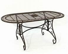 gartentisch oval romantischer gartentisch oval l 160cm aus metall