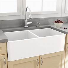 nantucket sinks cape 33 quot x 18 quot double bowl kitchen sink with grids reviews wayfair