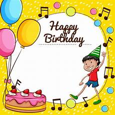 happy birthday card template for word happy birthday card template vector free
