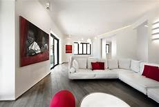red white apartment