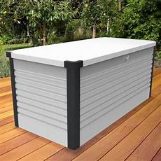 coffre de jardin s 233 curis 233 1000l patio box m 233 tal blanc