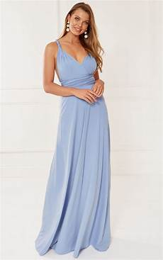 exclusive alexis blue multi way maxi bridesmaid dress