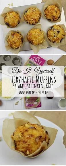 Herzhafte Muffins Schnell - rezept schnelle einfache herzhafte salami schinken k 228 se