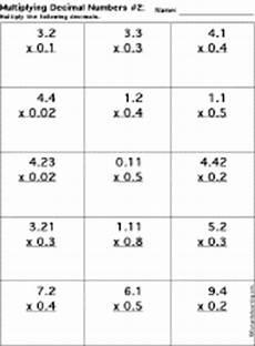 multiplying decimals estimating worksheets 7127 multiplying decimal numbers worksheet printout 2 enchantedlearning