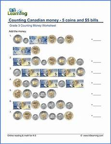 money problems worksheets grade 3 2552 canadian money worksheet coins and 5 bills k5 learning