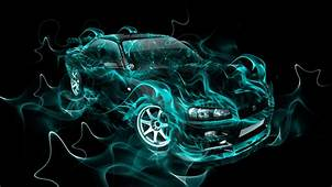 Nissan Skyline GTR R34 JDM Fire Smoke Abstract Car 2014
