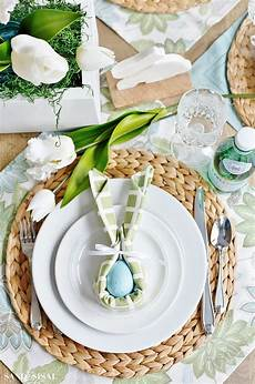 Servietten Ostern Falten - easter bunny napkin fold and table setting idea sand and