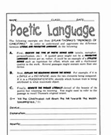 poem worksheets for 5th grade 25464 poetry lessons activities gallery of worksheets grades 6 8 teachervision