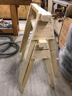 holzbock selber bauen stabiler arbeitsbock selbst gebaut holz und leim