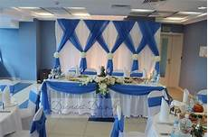 10ft 20ft white with sky blue wedding backdrop stage