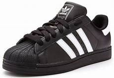 adidas originals superstar 2 ii leather trainers in black