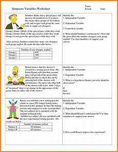 6th grade hypothesis worksheet refrence 7 independent and dependent variables worksheet