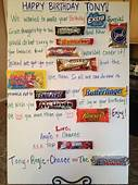 My Homemade Birthday Candy Poem/Card