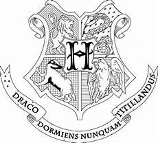 Harry Potter Wappen Malvorlagen Hogwarts Crest Coloring Page Harry Potter Zeichnungen