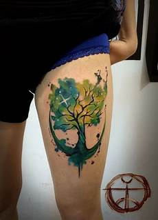 34 watercolor tree tattoo designs amazing tattoo ideas