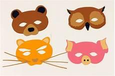 happy animal masks