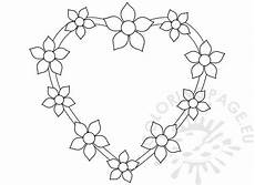 with flowers design template coloring page
