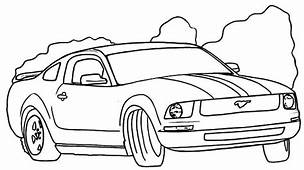 Drifting Mustang Car Coloring Pages  Best Place To Color