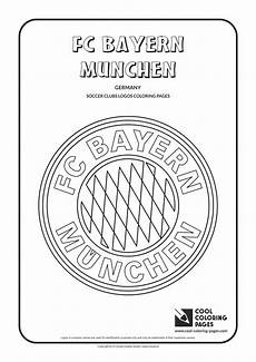 cool coloring pages soccer club logos fc bayern