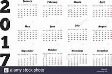 Calendar On 2017 Year With Week Starting From Monday A4