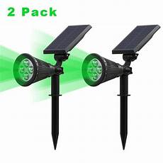 t sunrise 2 green light solar lights spotlight outdoor landscape lighting wall light in