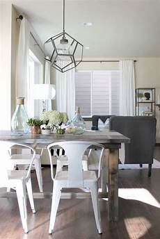 statement light fixture home farmhouse table chairs
