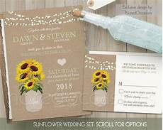 sunflower wedding invitation set rustic wedding invitation rustic sunflower wedding country