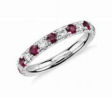 riviera pav 233 ruby and diamond ring in platinum 2 2mm blue nile
