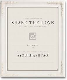 free wedding hashtag posters ewedding