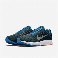 nike mens air zoom structure 18 running shoes blue