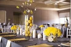 gray and yellow wedding decor lemon centerpieces a good