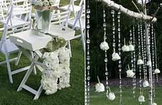 au wedding white green wedding ceremony decor