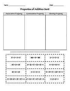 addition property worksheets for grade 3 9241 properties of addition sort math by miss s room tpt