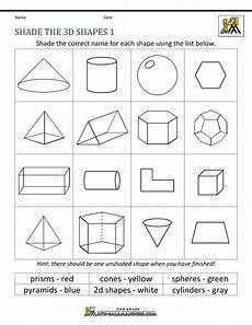 shapes worksheet grade 3 1125 3d shapes names world of reference